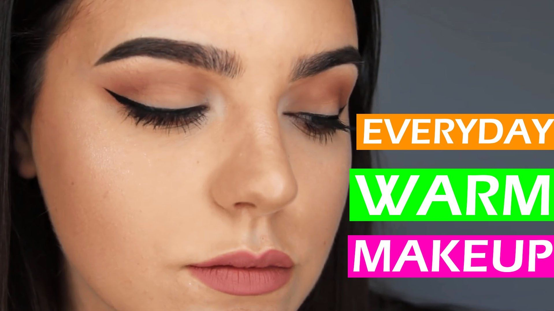 EVERYDAY WARM NEUTRAL FULL FACE MAKEUP TUTORIAL FOR