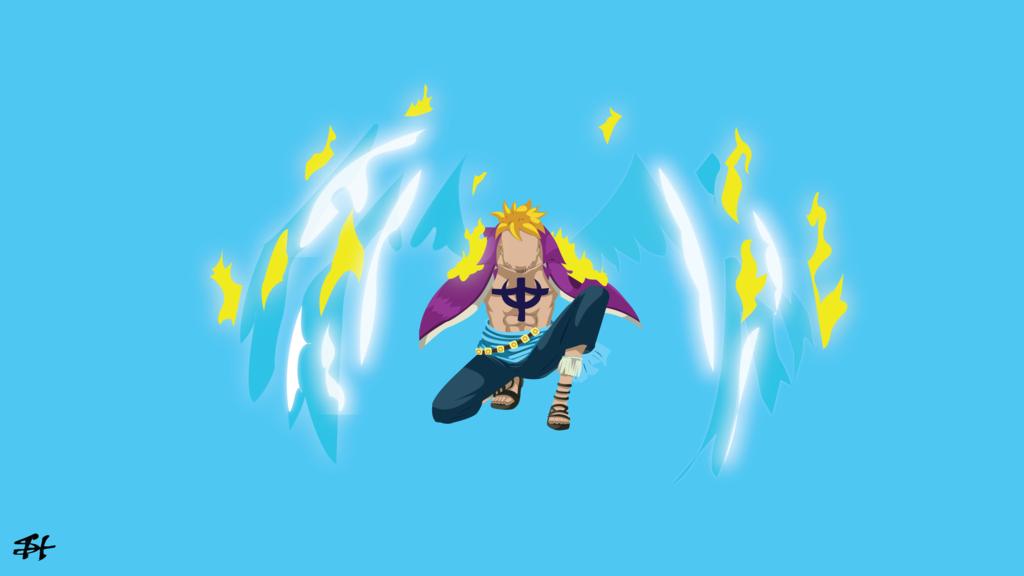 Marco The Phoenix (One Piece) Minimalist Wallpaper by