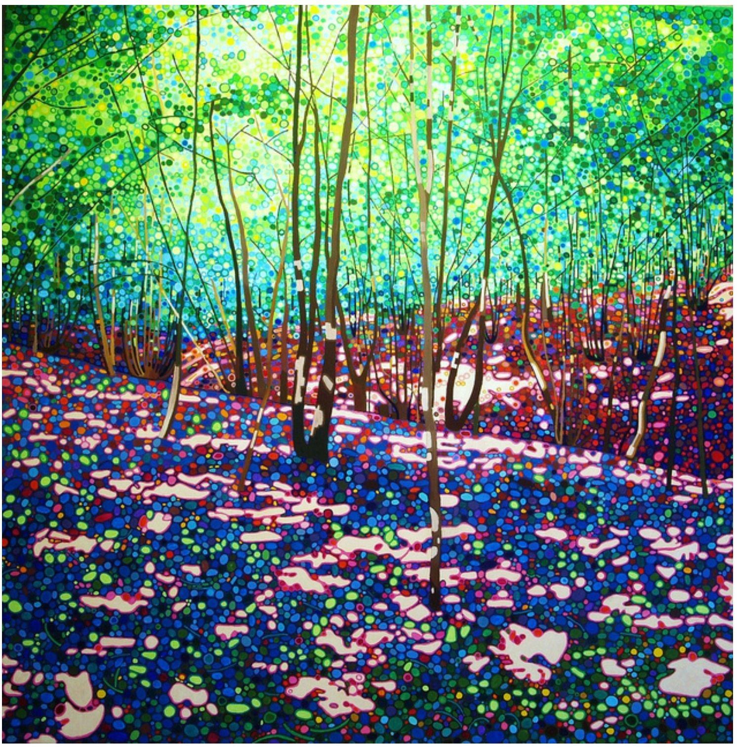 "Ewa Adams ""Meme's woods"" acrylic on canvas"