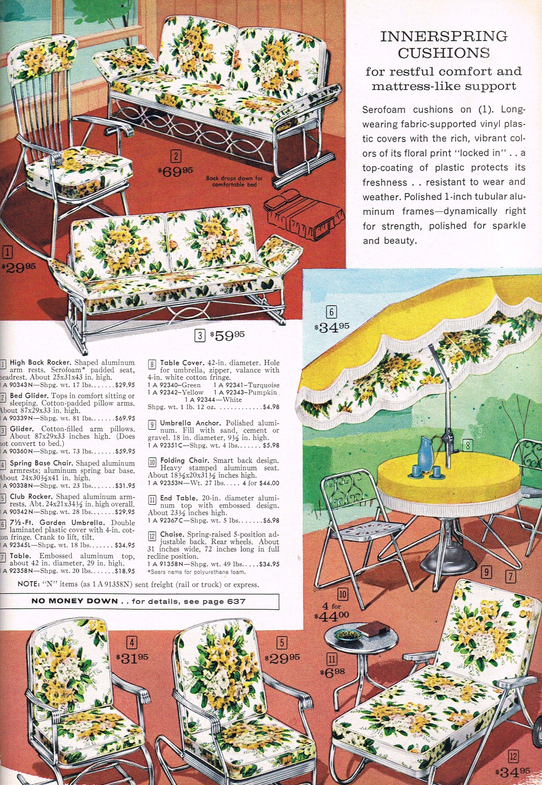Mid Mod Lawn Furniture Sears 1963 Grandma Had That