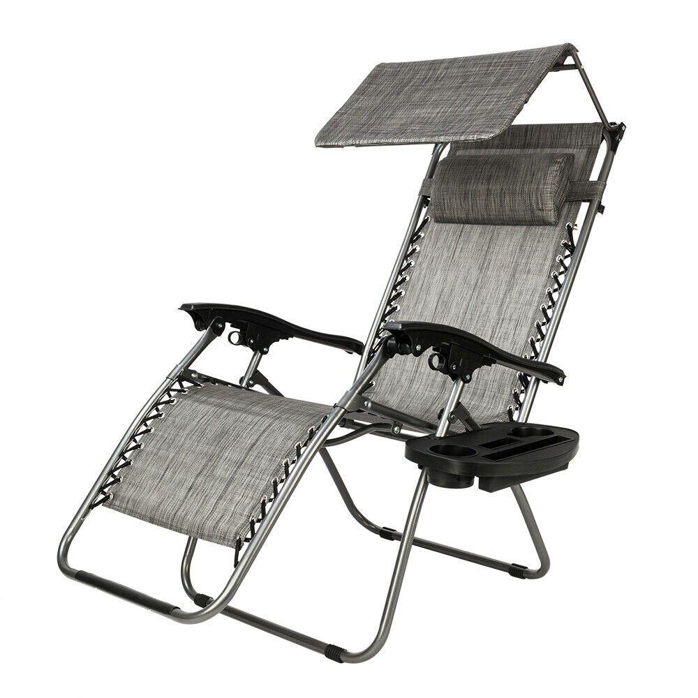 Details about Zero Gravity Folding Patio Lounge Beach