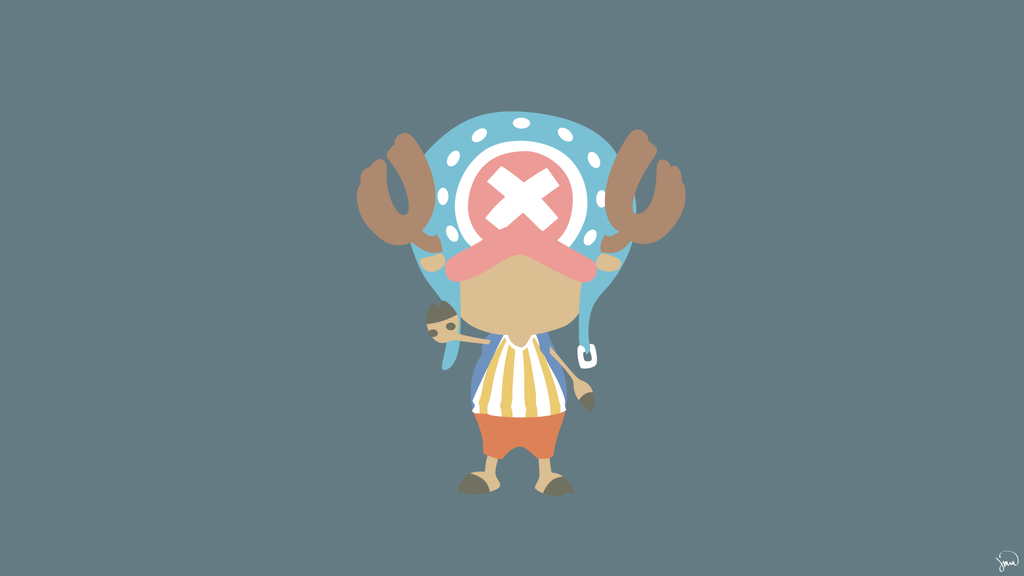 Tony Tony Chopper (One Piece) Minimalist Wallpaper by