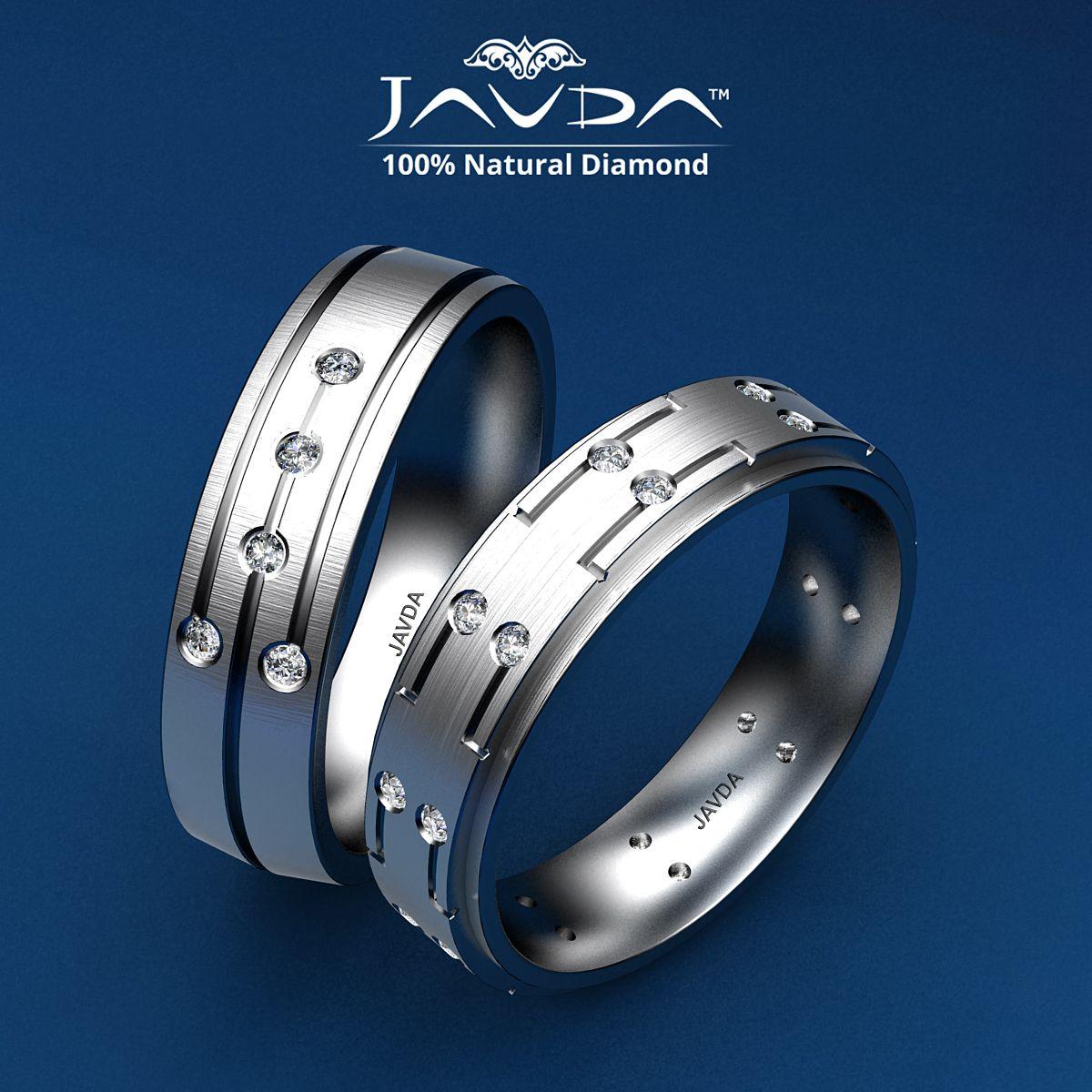 Brilliant Round Diamond Bezel Set Men's Eternity Wedding