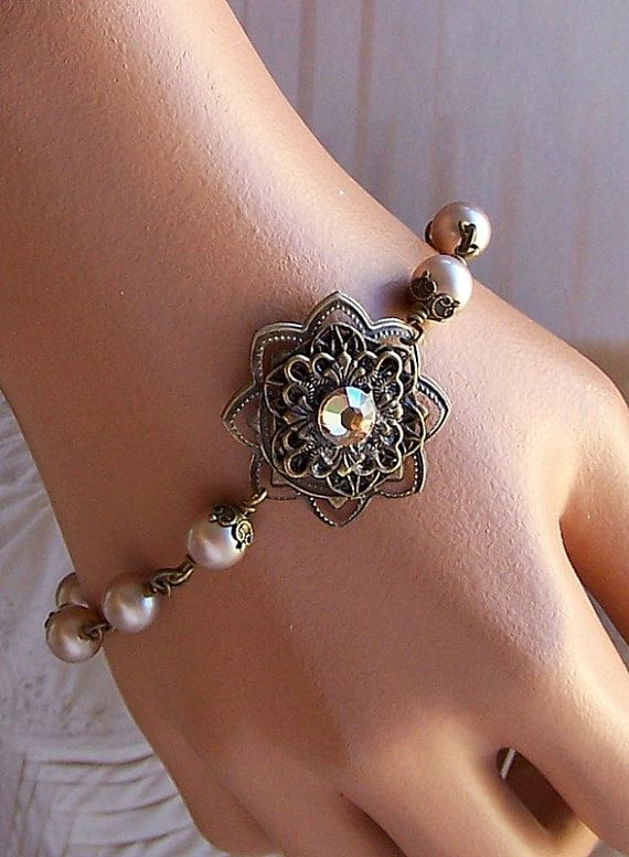 Vintage Inspired Bracelet  Bride Bridesmaids Gift  by lecollezione, $37.95