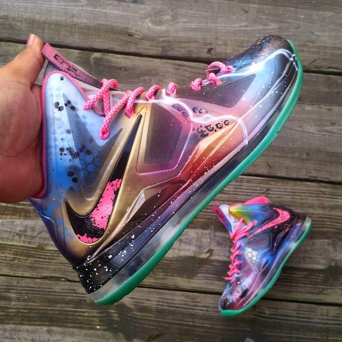 Nike Lebron X Galactic Beach Custom Nicekicks Com Hype Shoes Sneakers Fashion Lebron Shoes
