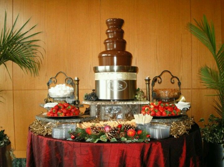 CHOCOLATE FOUNTAIN set up idea - Lydiau0027s 16 & CHOCOLATE FOUNTAIN set up idea - Lydiau0027s 16 | Party ideas - Food ...