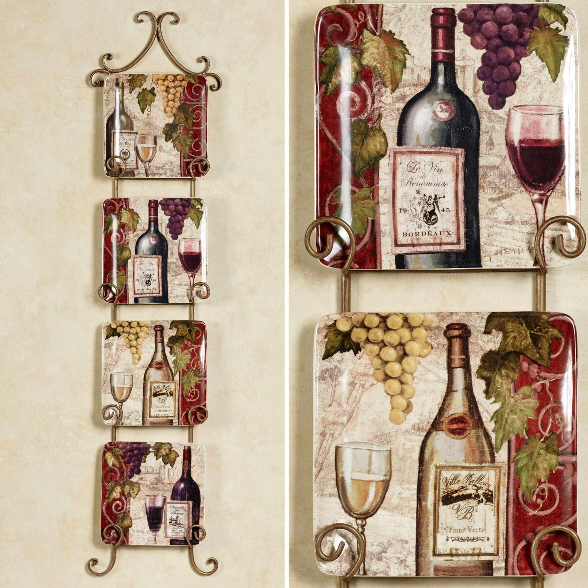 Wine Tasting Square Salad Plate Set | For the Home | Pinterest ...