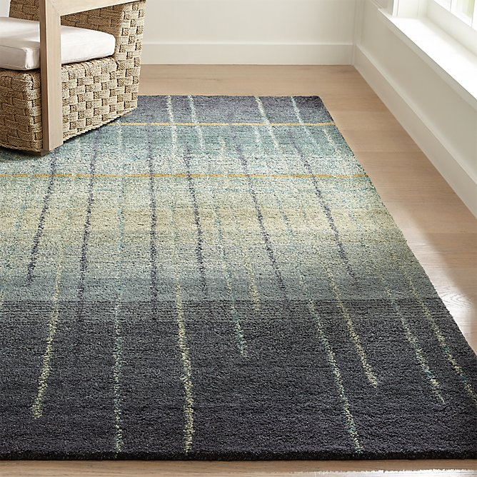 Dillane Ombre Rug 6 X9 Reviews Crate And Barrel In 2020 Ombre Rug Rugs Gorgeous Rug