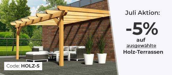 Terrassenüberdachung aus Holz & Metall günstig kaufen Top