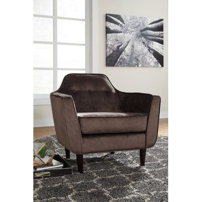 Wrought Studio Luis Armchair Upholstery Brown Accent Chairs