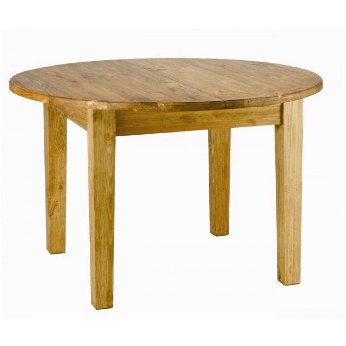 table ronde pin massif extensible 120cm avec rallonge | grenier