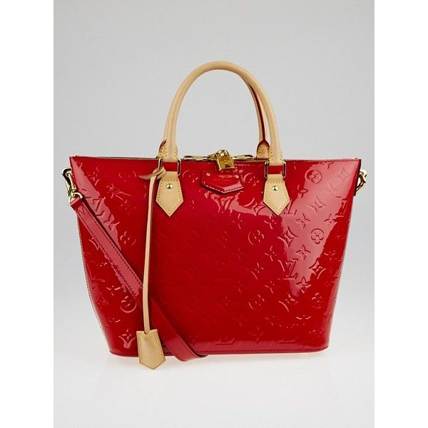 11fbec94fd02 Pre-owned Louis Vuitton Cerise Monogram Vernis Montebello MM Bag ...