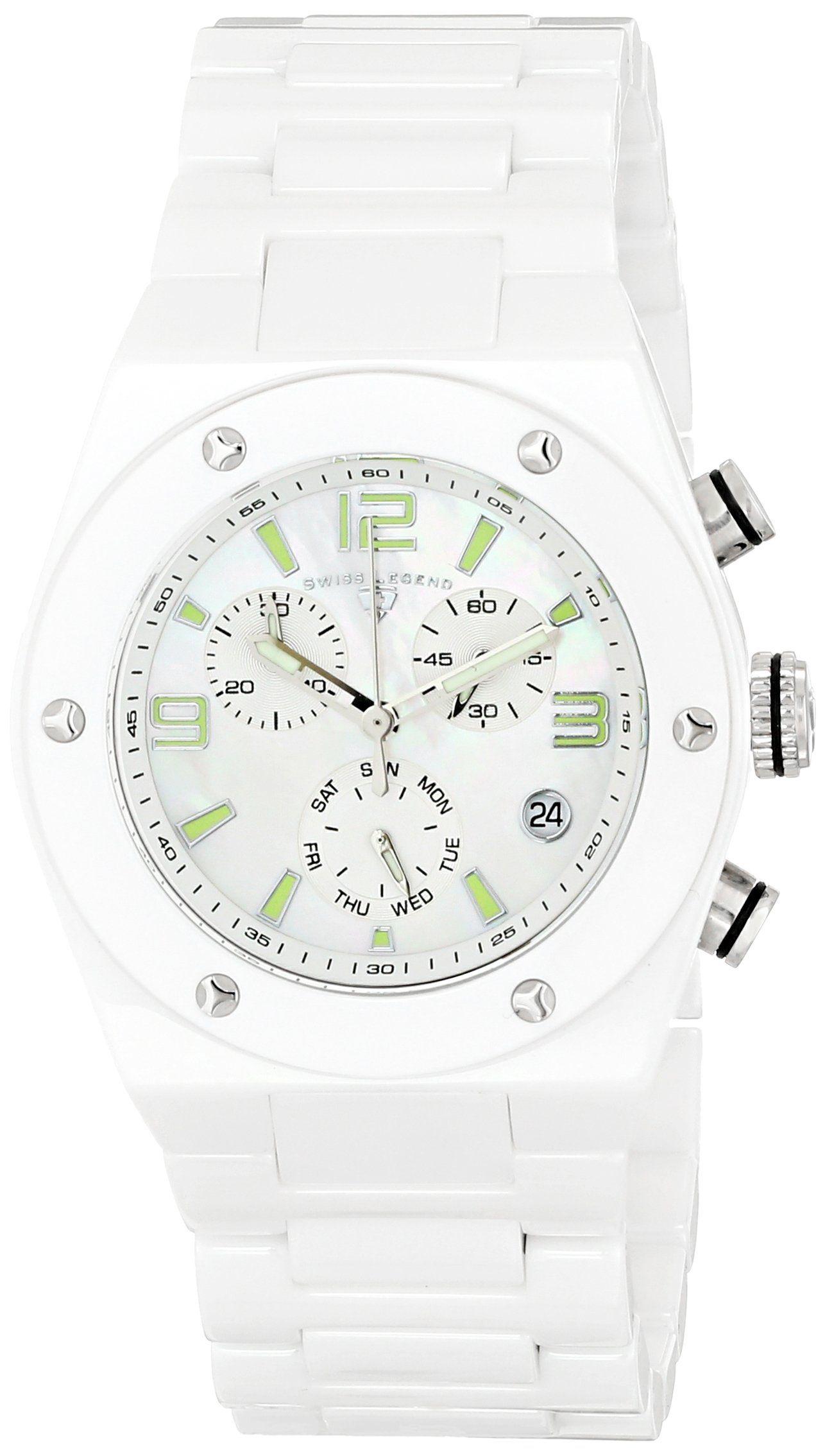 Amazon.com: Swiss Legend Women's 10055-WWSA Throttle Analog Display Swiss Quartz White Watch: SWISS LEGEND: Watches