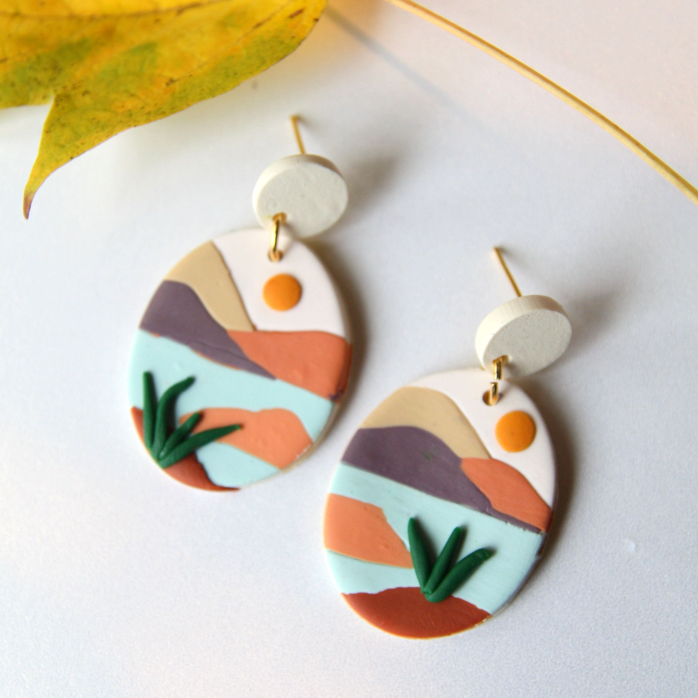 Clay Earrings The Palm Beach Collection