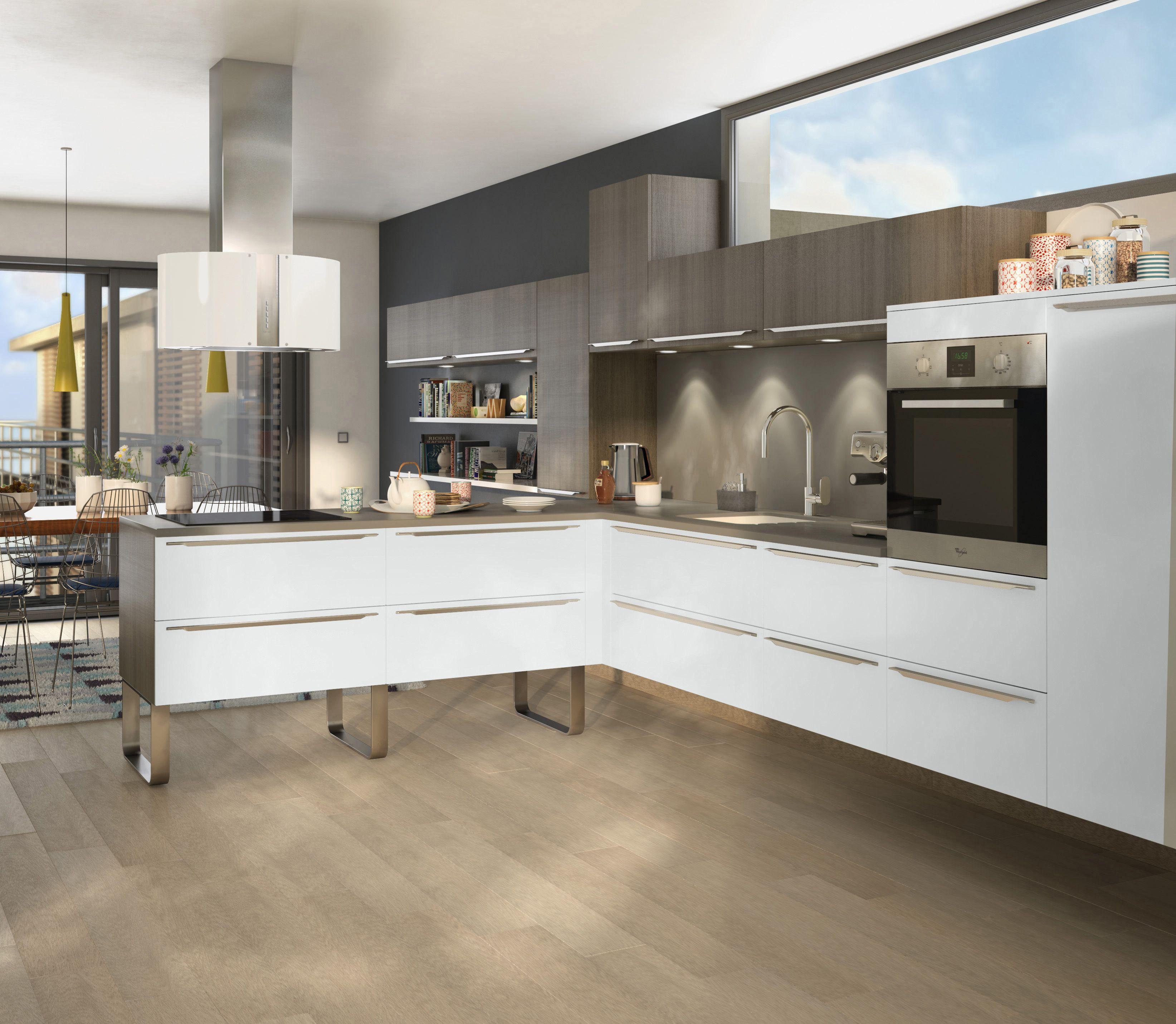 Cuisine Eyre Orme Gris Et Blanc Brillant Le Modele Eyre Vous Offre Une Solution Design Et Contempor Meuble Cuisine Meubles De Cuisine Noirs Cuisine Elegante