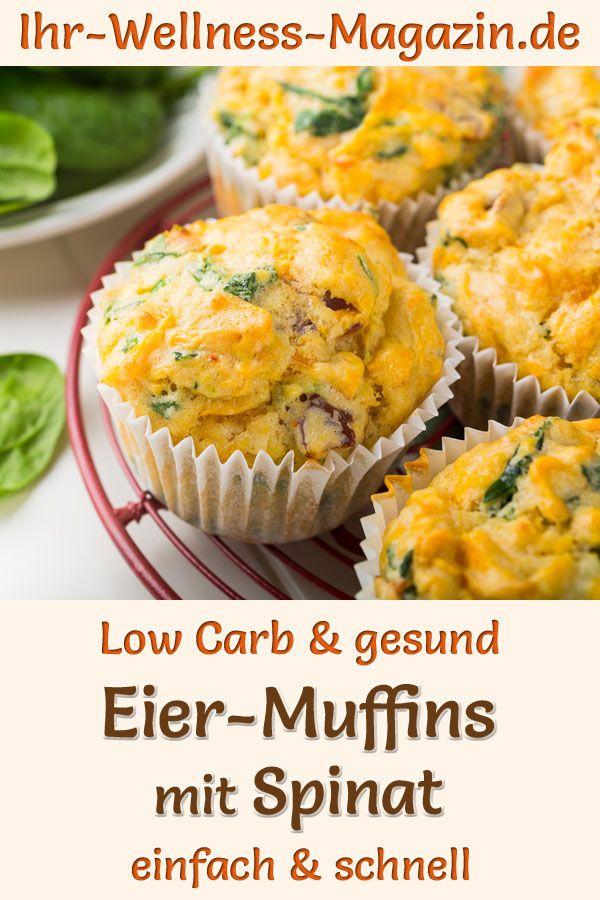Gesunde Eiermuffins mit Spinat zum Abnehmen - schnelles Low-Carb-Rezept