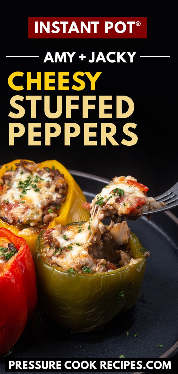 Instant Pot Cheesy Stuffed Peppers Tested By Amy Jacky Recipe Stuffed Peppers Healthy Instant Pot Recipes Easy Instant Pot Recipes