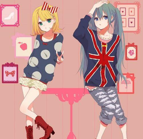 Rin and Miku.