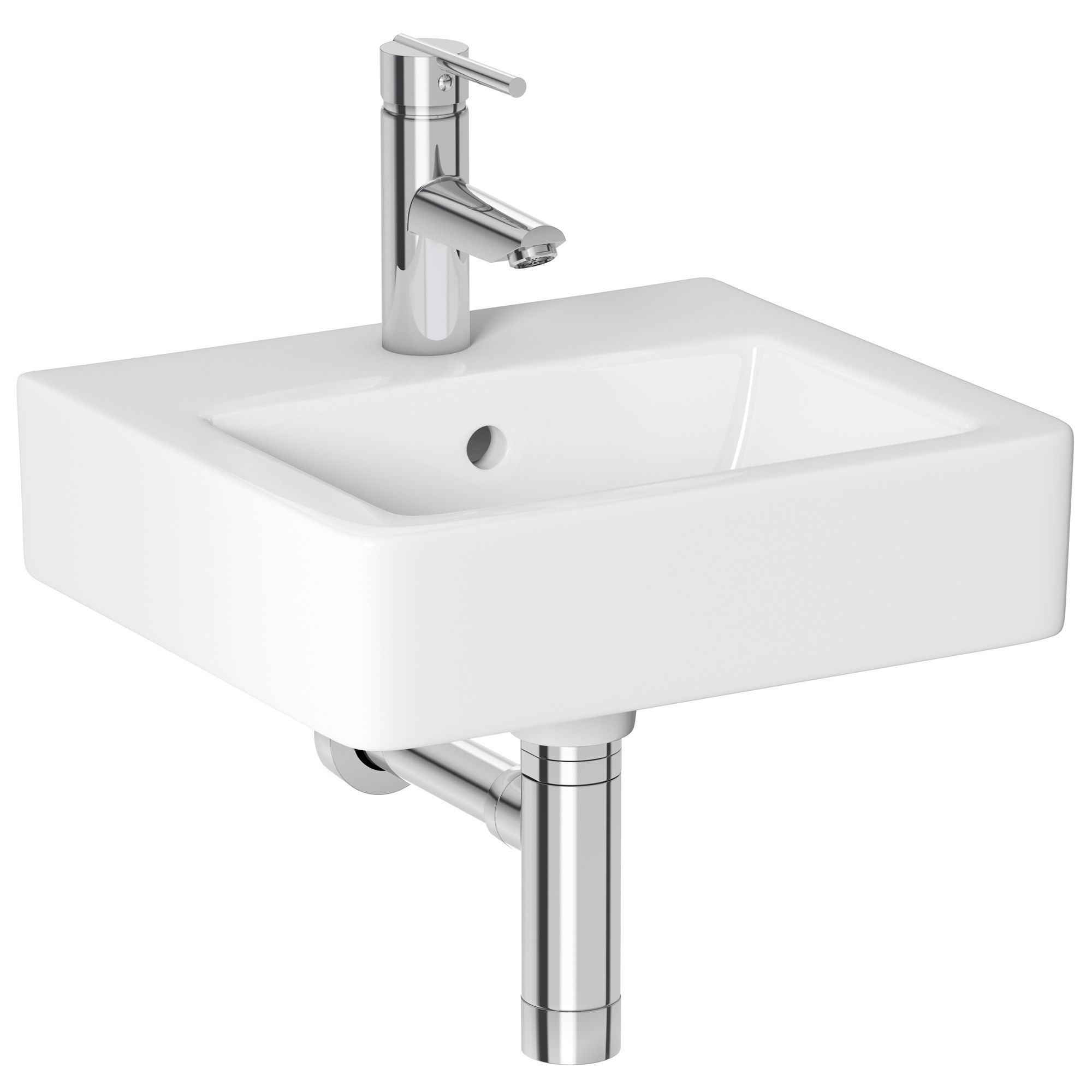 Bathroom Sinks B&Q cooke & lewis alexas square cloakroom basin | departments | diy at