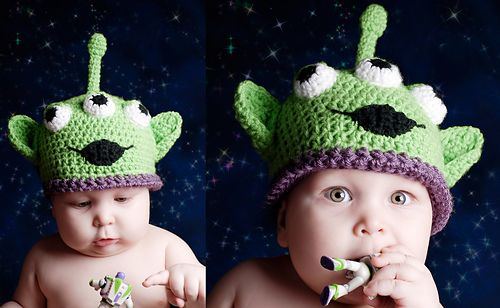 Andrews Alien All Sizes Pattern By Boomer Beanies Crochet