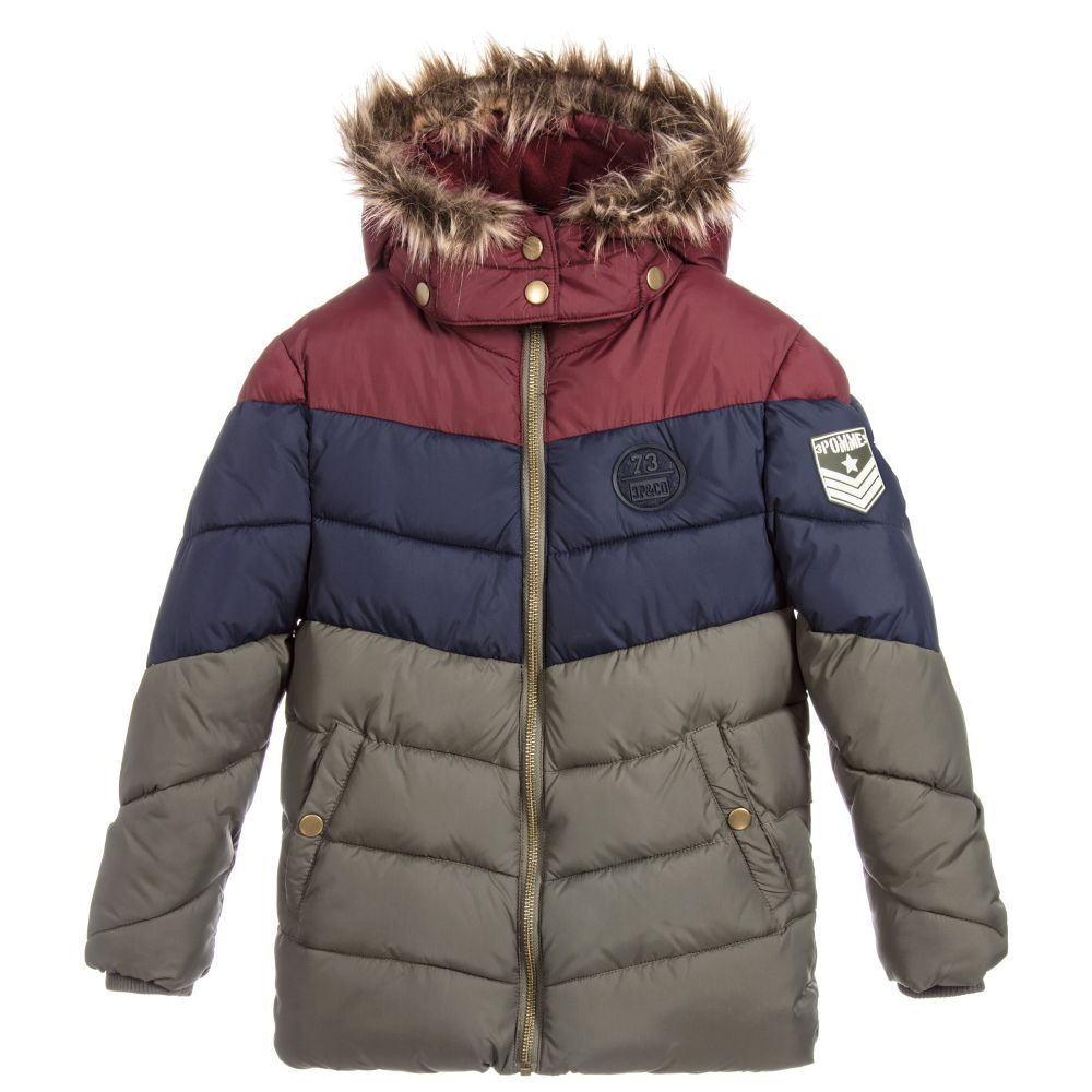22d0df1b347f Boys Padded Puffer Jacket for Boy by 3Pommes. Discover the latest ...