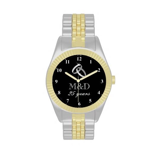 Silver Wedding Gifts For Husband: 25th Silver Wedding Anniversary Watch For Husband