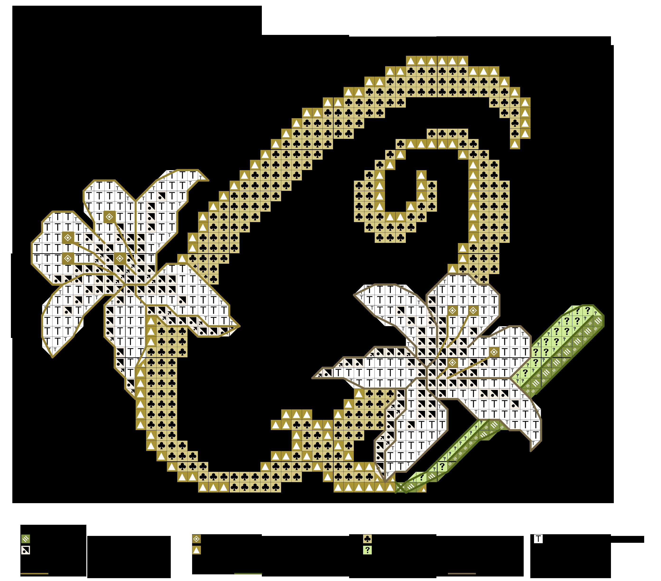 alfabeto dei gigli Q