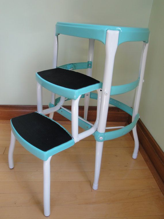 Vintage Step Stool Chair For Kitchen   Http://johndiehl.org/vintage