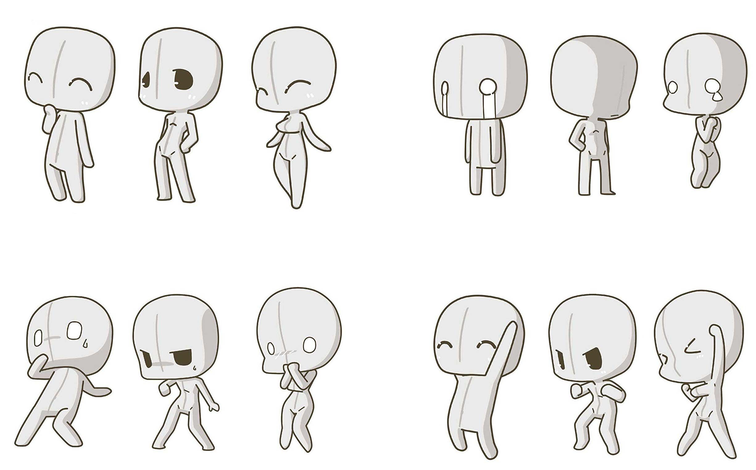 Chibi Drawing Reference And Sketches For Artists In 2020 Chibi Drawings Drawing Expressions Chibi Sketch
