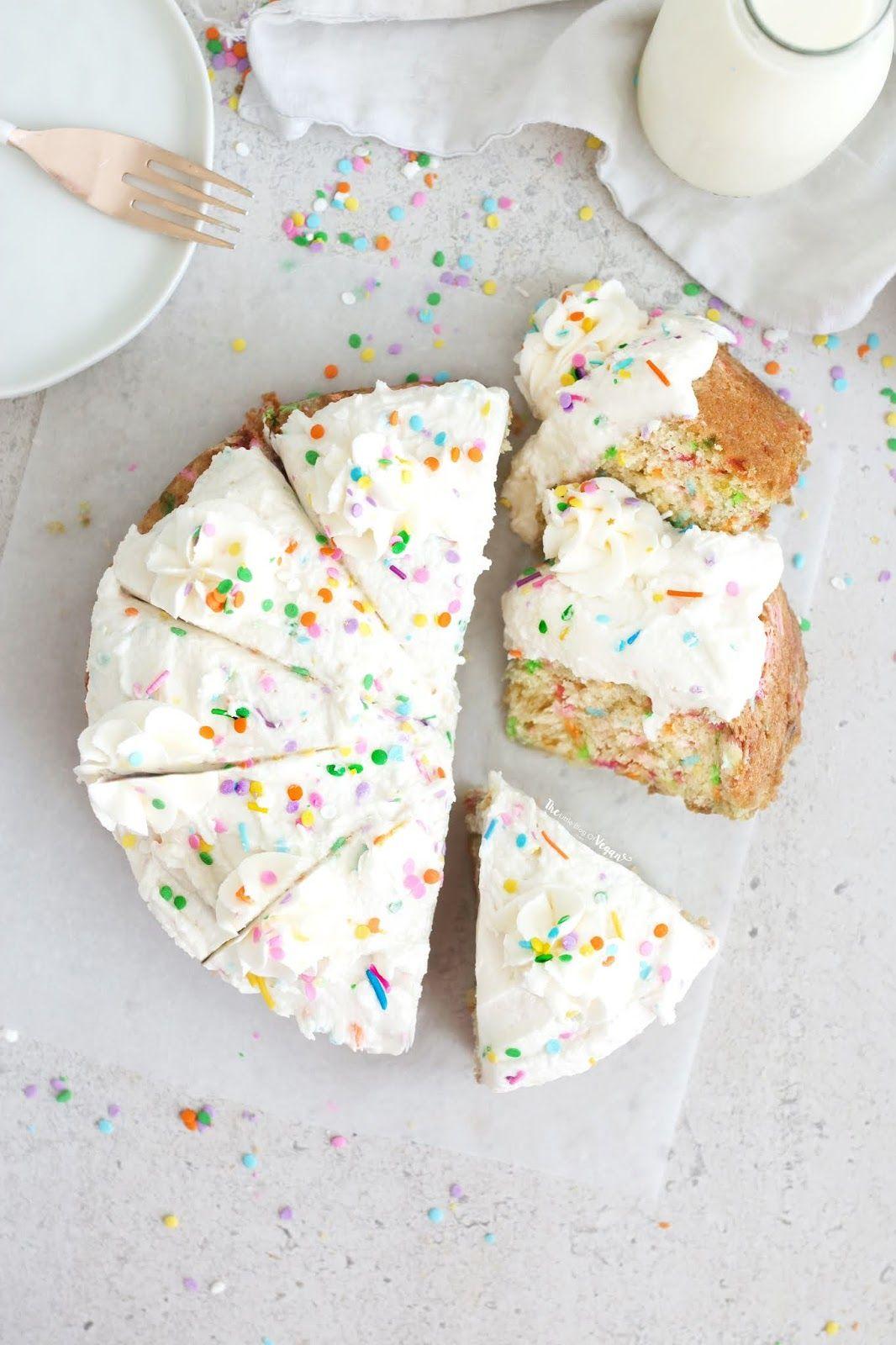 Easy vegan funfetti cake recipe in 2020 vegan funfetti
