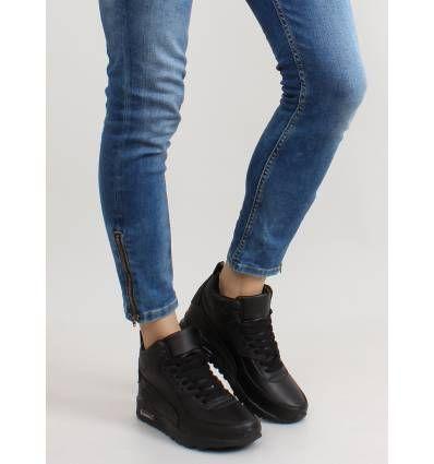Obuwie Sportowe Za Kostke B3701 Black Fashion Skinny Jeans Skinny