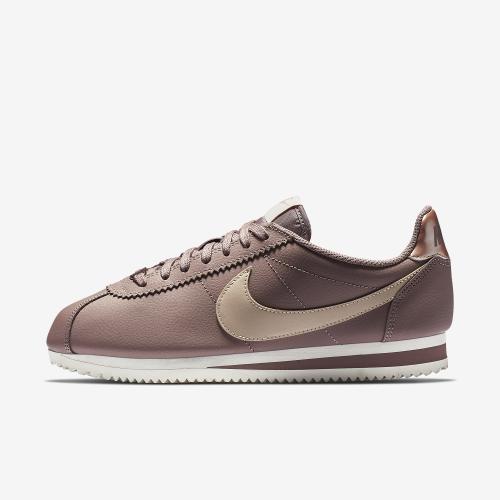 e57fd35056 Nike Classic Cortez Leather Women's Shoe, Size: 5, Smokey Mauve/Particle  Beige-Mtlc Red Bronze-Phantom