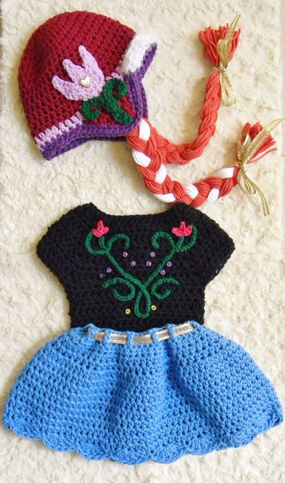 Newborn & 3 months Crochet Disney's Frozen Elsa by OhSoVeryKnotty
