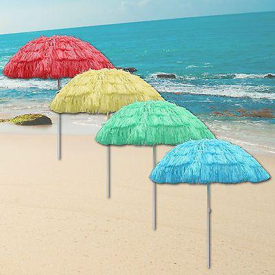 Good Outdoor Garden Hawaiian Parasol Beach Umbrella Tilting Sunshade Patio Hawaii  NEW