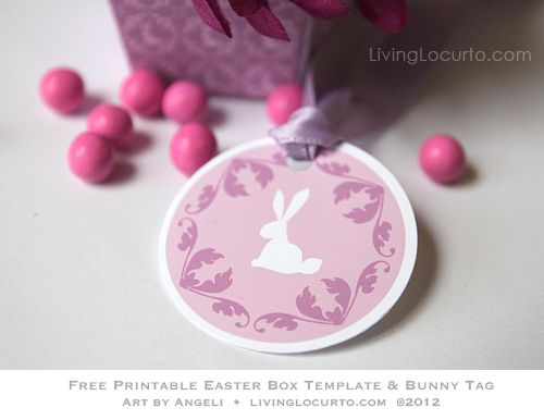 Free printable bunny tags box template for easter design by free party printable free easter diy gift box template tag for spring negle Gallery