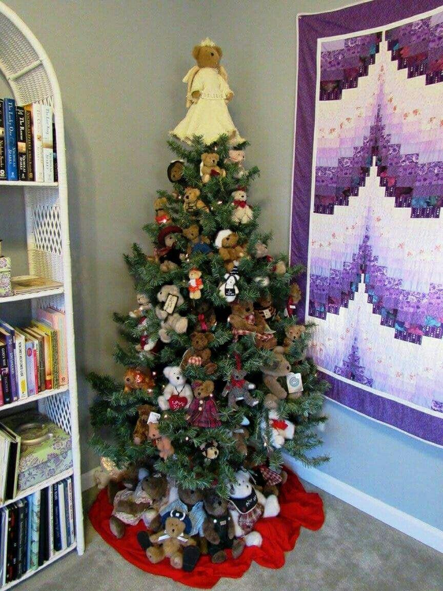 Teddy Bear Christmas Tree Christmas Trees For Kids Christmas Tree Decorations Christmas Tree