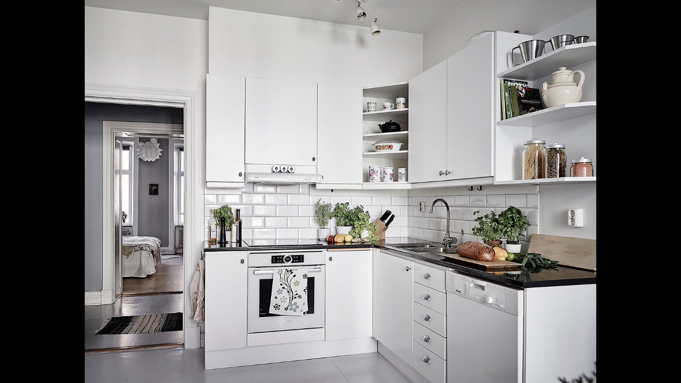 Swedish flat. Monochromatic. Kitchen | European Home Design ...