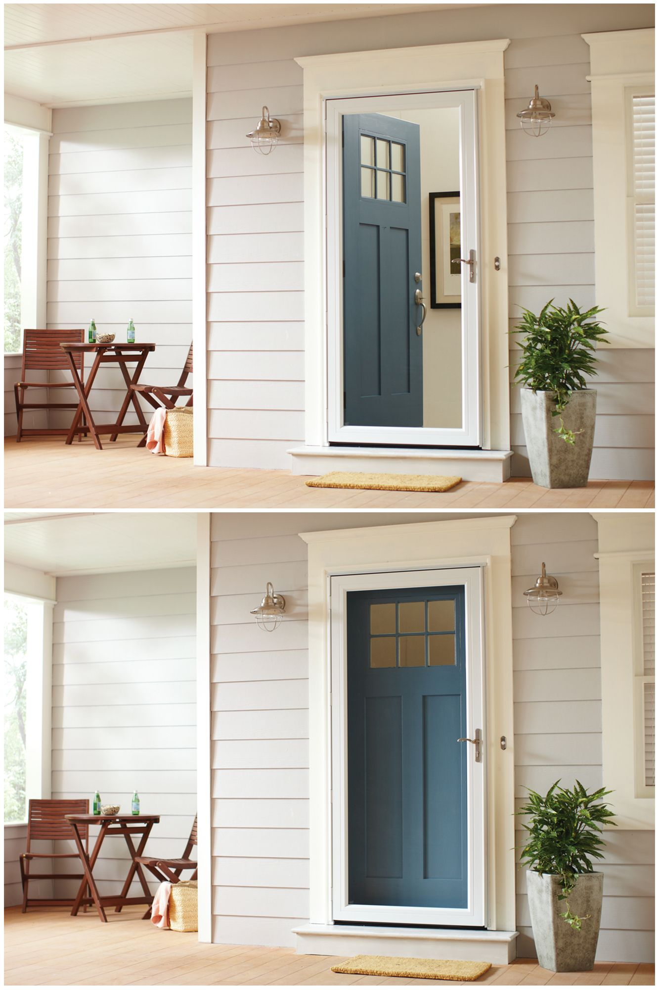 Andersen Easy Install Storm Doors Are Prepped For Quick Installation