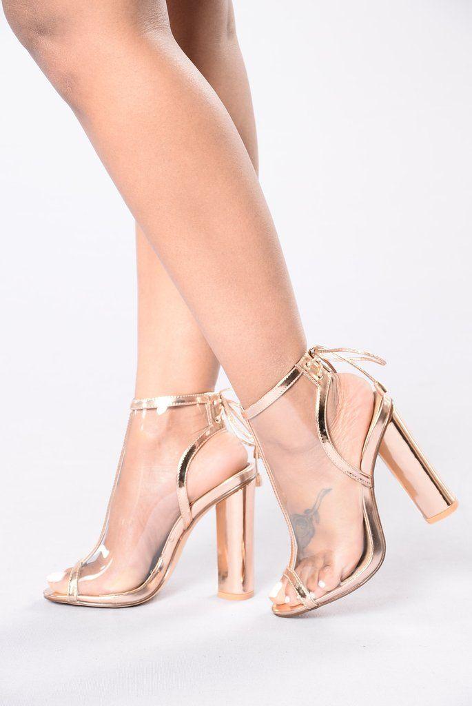 aae4b8346157 Belong To The City Heel - Rose Gold Fashion Nova Shoes