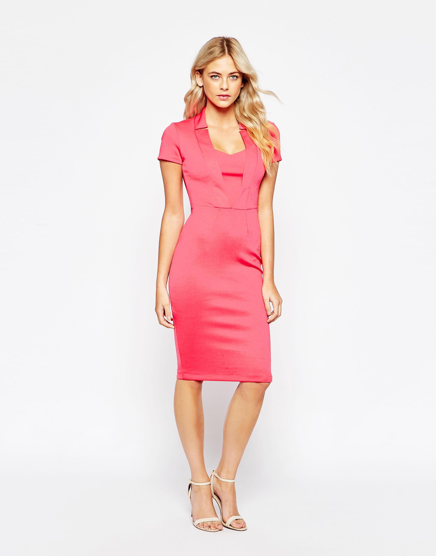 Asos City Goddess Structured Midi Dress With Cap Sleeves 5832395 Sarah Bramley Dresses Dresses For Work Midi Dress [ 2880 x 2258 Pixel ]