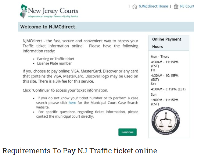 Www Njmcdirect Com Ticket Payment Online In 2020 Online World