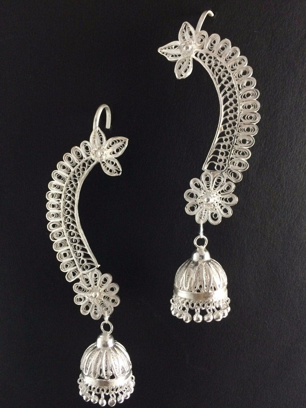 7d2c195470362 Odissi in 2019 | Küpe | Filigree Jewelry, Jewelry, Silver necklaces