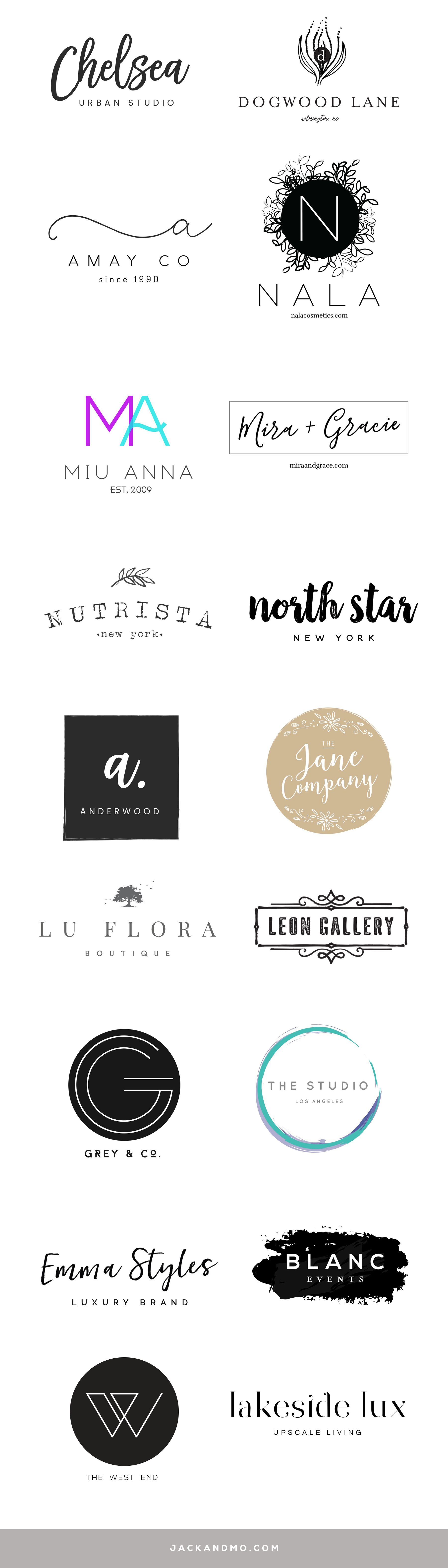 Modern Minimalist Pre Made Logo Designs So Easy To Customize