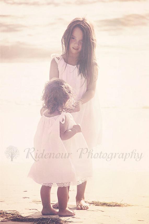 e33ecf187f White beach portrait flower girl dresses for little girls sizes 0-12 ...