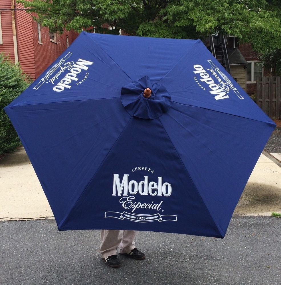 Modelo Beer Cerveza Pool Beach Patio Umbrella Bar Pub Man Cave 7u0027 Tall New