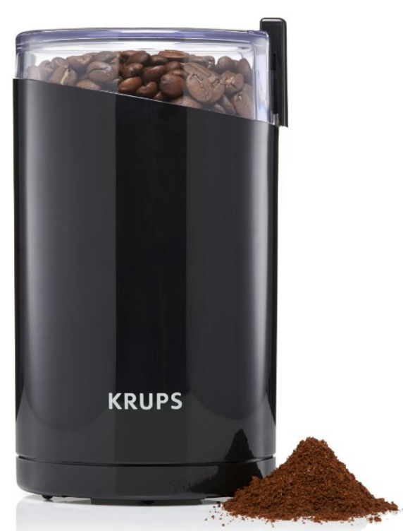 KRUPS F203 Electric Spice and Coffee Grinder with Stainless Steel Blades, 3-Ounce
