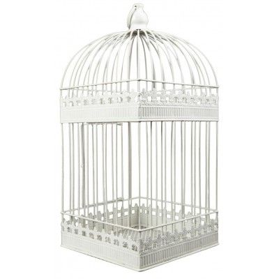 Urne cage shabby chic vintage shabby chic and wedding for Bougeoir shabby chic