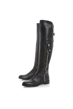 5f260818c90 Petrini Side Zip Over The Knee Boots by Dune Black | My Style ...