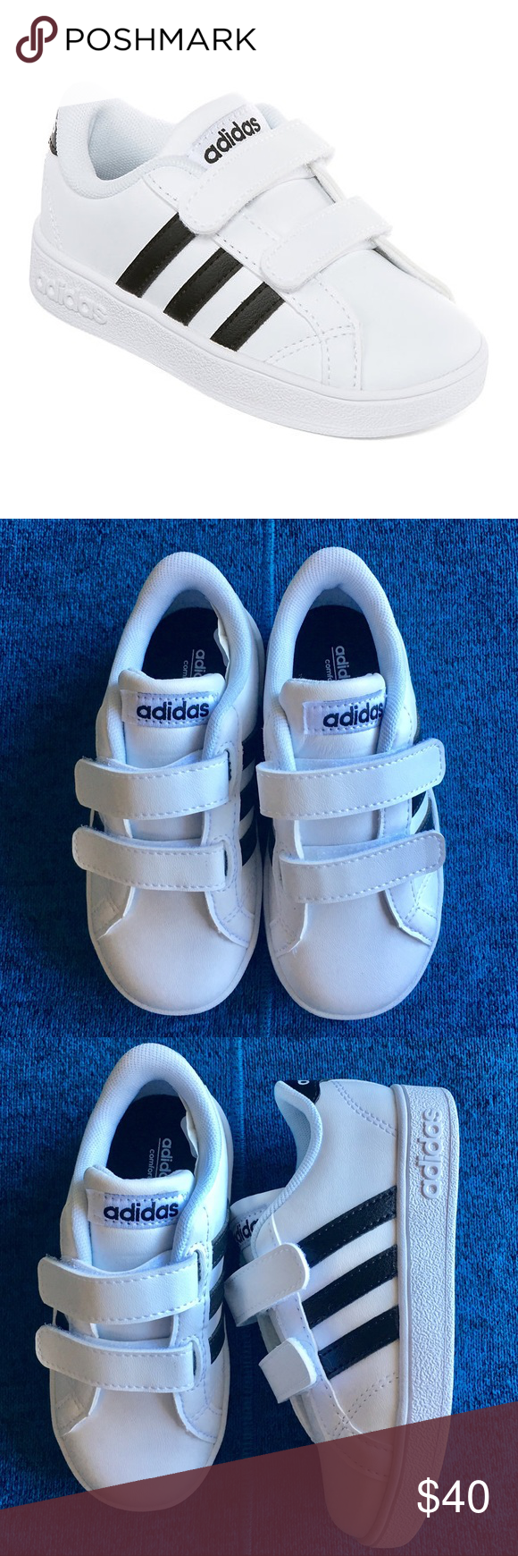 7916dafac4 32883 4f6d2; free shipping adidas kids adidas neo baseline unisex toddler  sneaker size 8 color black and white