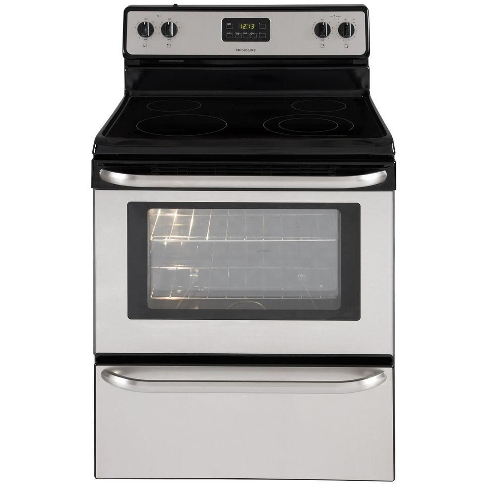 Frigidaire 4 8 Cu Ft Electric Range In Stainless Steel Ffef3043ls The Home Depot Electric Range Cooking Range Diy On A Budget